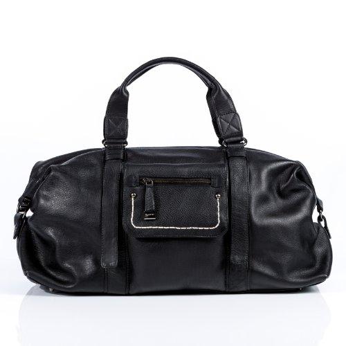baccini reisetasche edith weekender sporttasche leder schwarz weekender bag. Black Bedroom Furniture Sets. Home Design Ideas