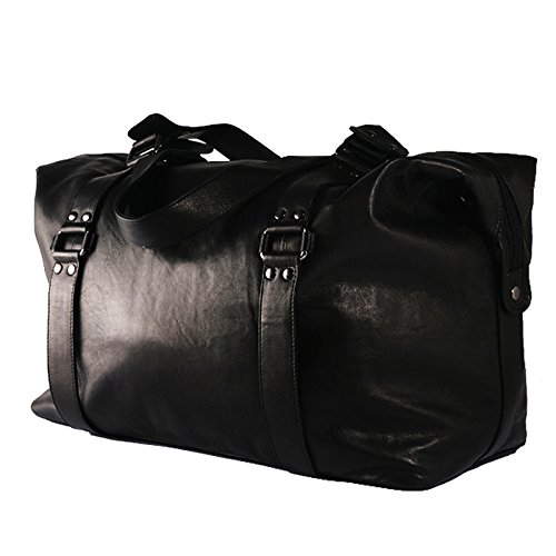 baccini reisetasche greta weekender gro sporttasche echt leder schwarz weekender bag. Black Bedroom Furniture Sets. Home Design Ideas