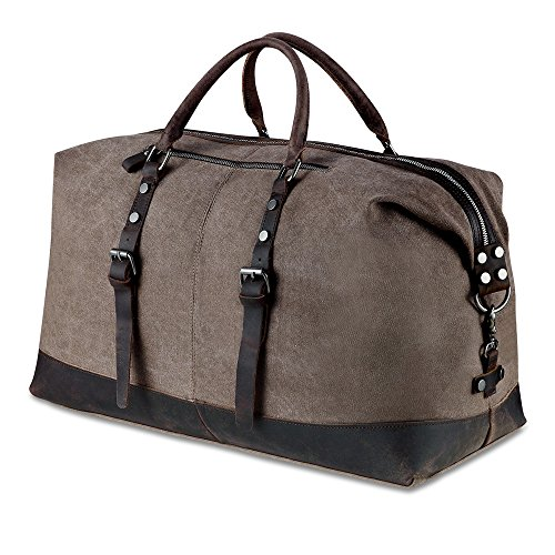 weekender vintage reisetaschen leder canvas weekender bag. Black Bedroom Furniture Sets. Home Design Ideas