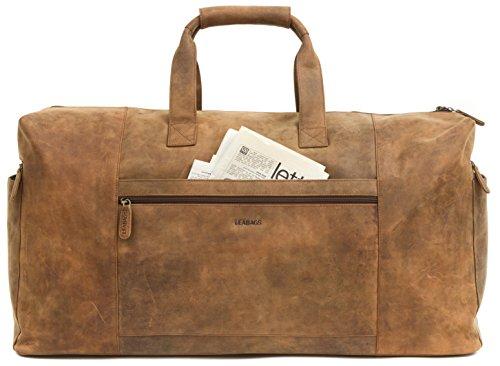 leabags sydney reisetasche aus echtem b ffel leder weekender bag. Black Bedroom Furniture Sets. Home Design Ideas