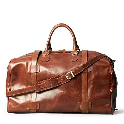 maxwell scott bags personalisiert luxus herren leder reisetasche in cognac braun flerol. Black Bedroom Furniture Sets. Home Design Ideas