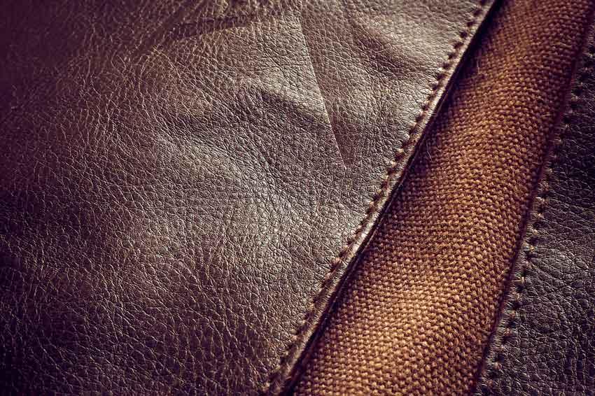 Canvas Tasche mit Leder Kombination